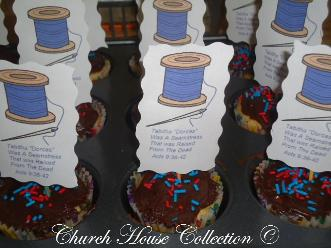 Needle and Thread Cupcakes Snack For Sunday School Kids- Peter Raised Tabitha From The Dead by Church House Collection