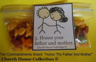 Honor Thy Father and Mother Snack for Ten Commandments