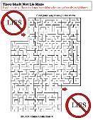 Thou Shalt Not Lie Maze