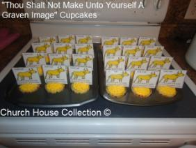 10 Commandments Cupcakes Gold Calf Thou Shalt Not Make For Yourself A Graven Image