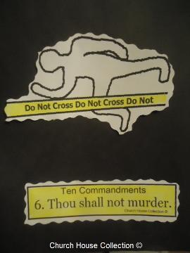 Thou Shalt Not Murder Cut Out Craft For Sunday School Ten Commandments