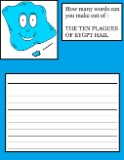 The Ten Plagues of Egypt Hail Word In a Word Activity Sheet for Kids