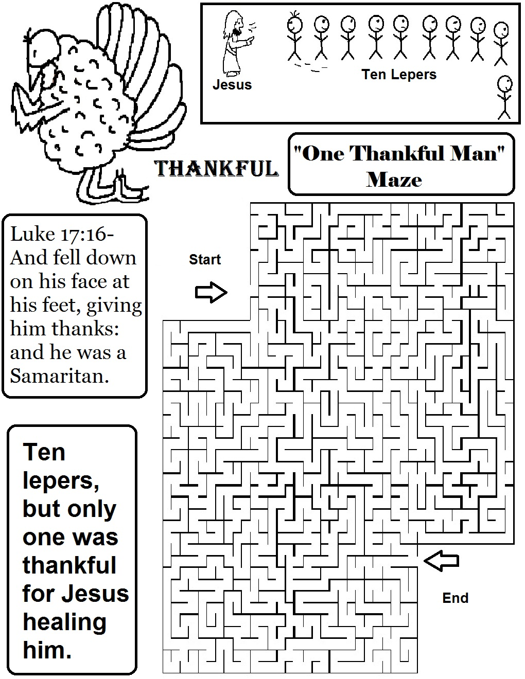 thanksgiving quotone thankful leperquot sunday school lesson
