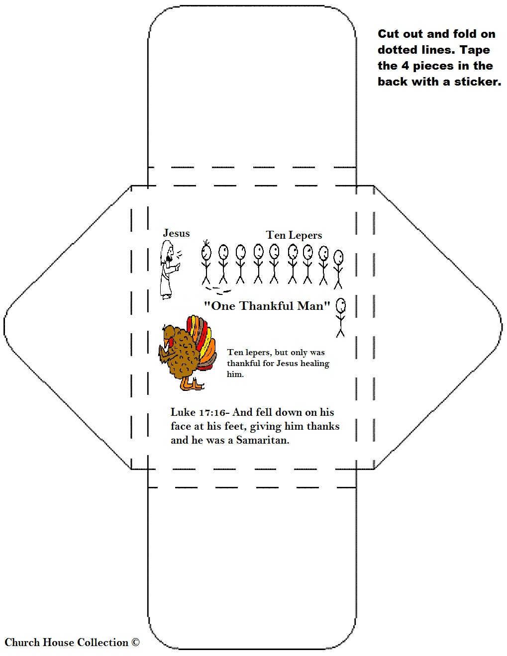 "Preschool craft 10 lepers : Thanksgiving ""One Thankful Leper"" Sunday ..."
