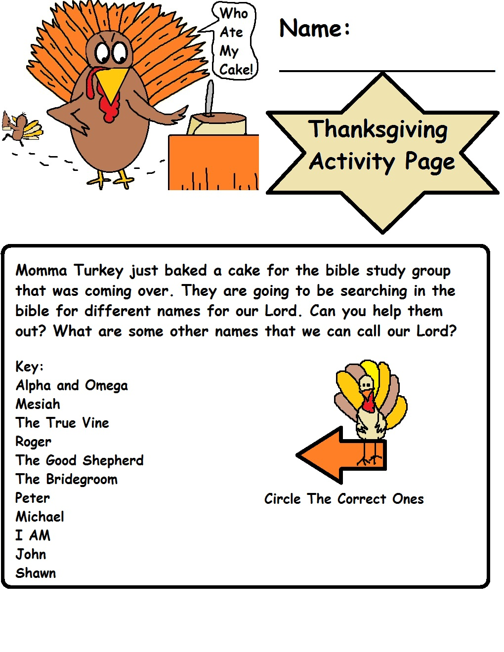 Thanksgiving sunday school lesson for Thanksgiving sunday school crafts