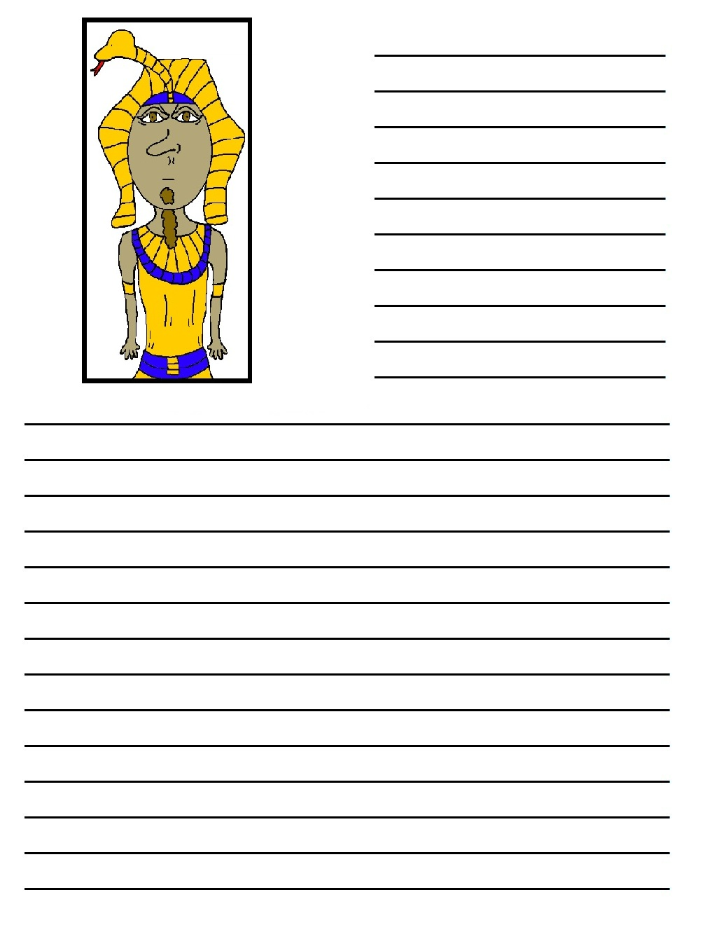 Egyptian writing paper