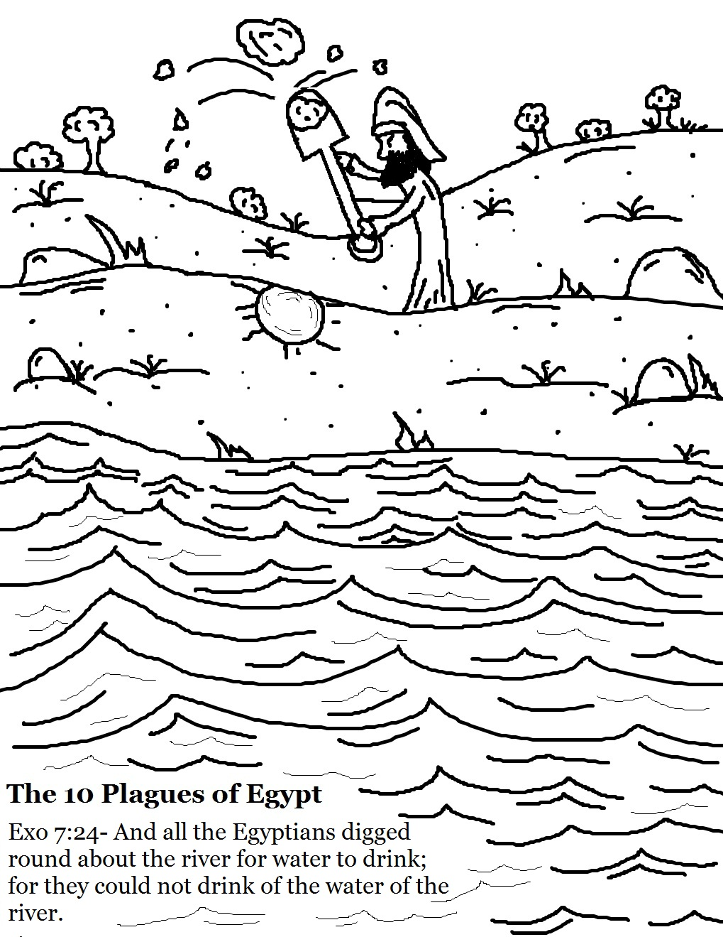 the nile river colouring pages