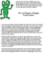 The 10 Plagues of Egypt Sunday school Lesson