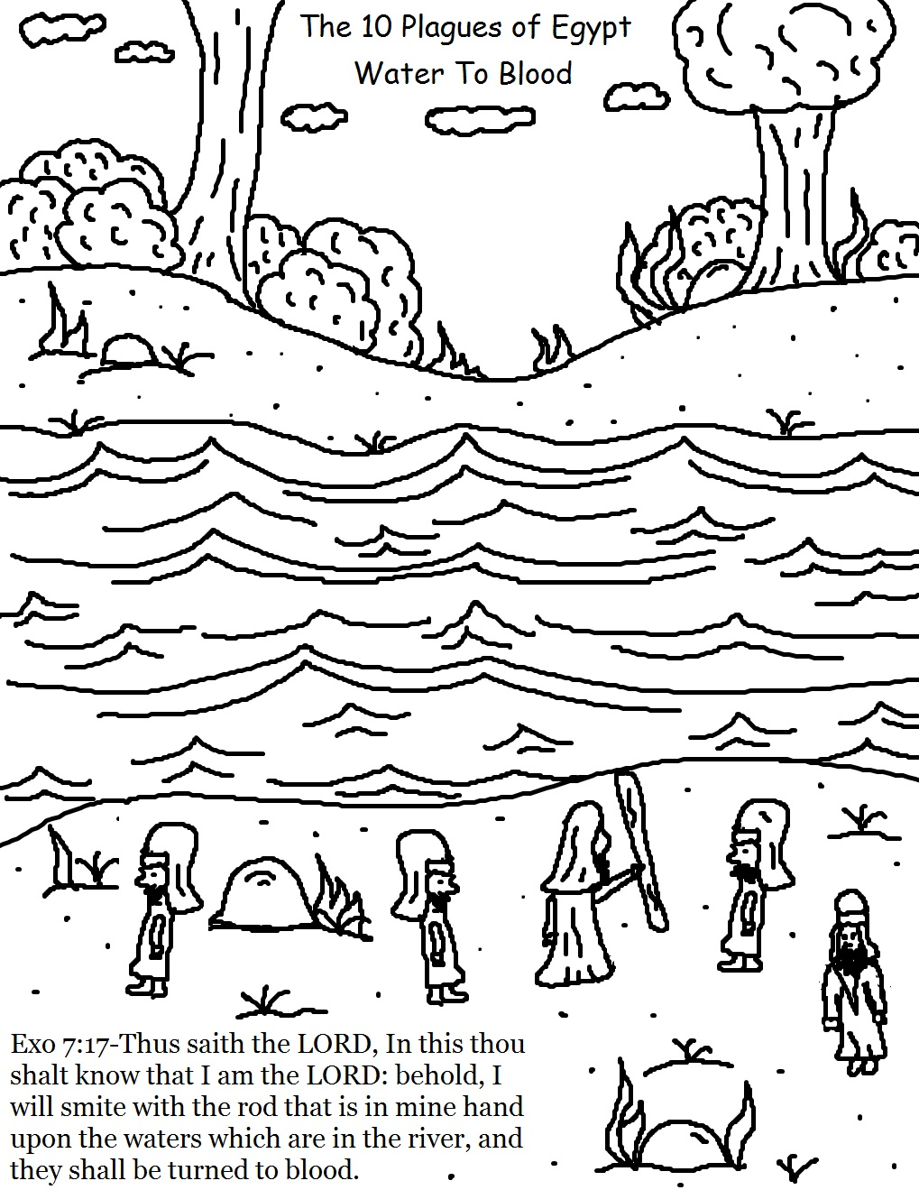 The 10 Plagues Of Egypt Coloring Pages Ten Plagues Of Coloring Pages
