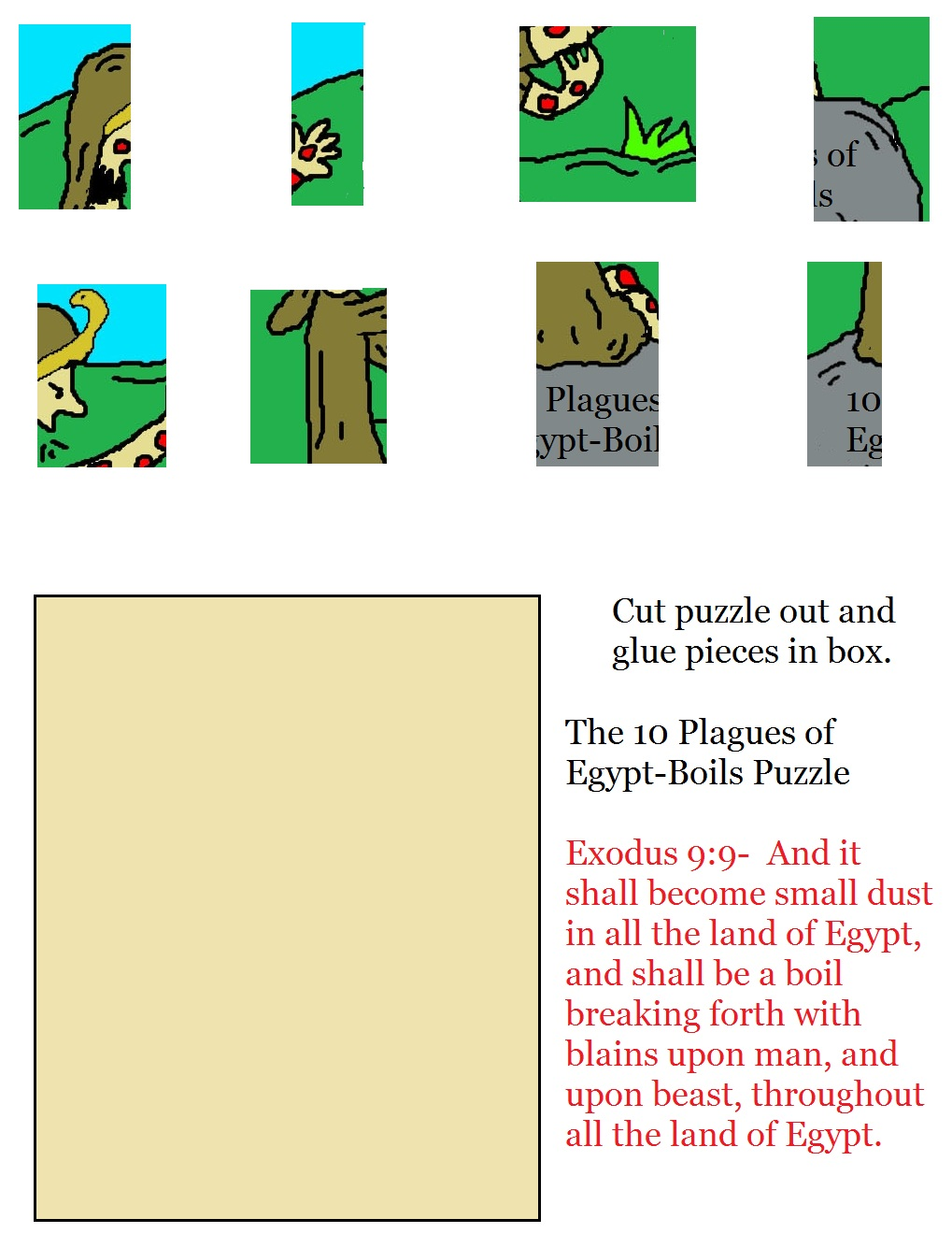 The 10 Plagues of Egypt Boils and