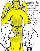 The Angel Of The Lord With Sheep Coloring Page By Church House Collection© Psalms 34:7