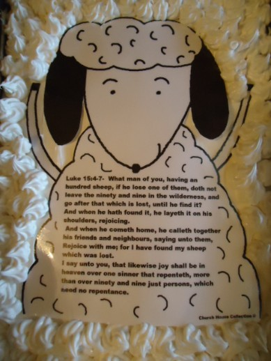 The Parable Of The Lost Sheep Cake Snack For Kids For Sunday school