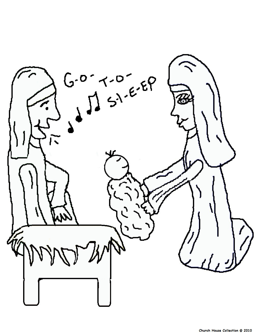The Birth Of Jesus Coloring Pages The Birth Of Jesus To Color