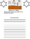 The parable of the mustard seed word in a word activity sheet