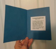 The parable of the mustard seed card craft