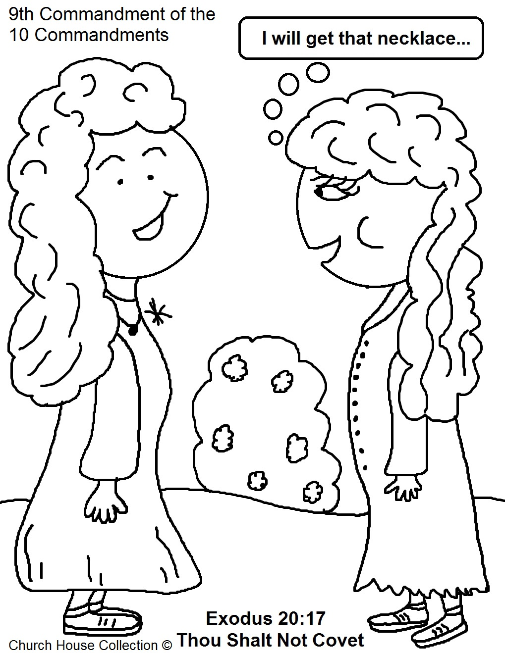 Thou shalt not covet sunday school lesson for Honor your father and mother coloring page