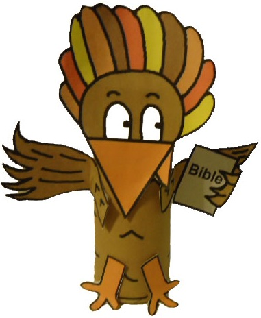 Free thanksgiving turkey sunday school lessons for for Thanksgiving crafts for kids church