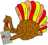 Give Thanks In All Things Turkey Reading Bible Clipart
