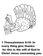 Give Thanks In All Things Coloring Page