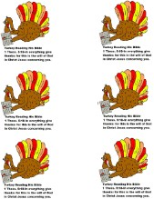 Turkey Reading Bible Give Thanks In All Things Template