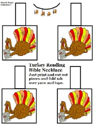 Printable Turkey Necklace Craft