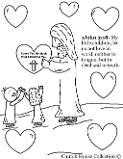 Valentine's Day Coloring Pages For Sunday School, Children's Church and For School Kids