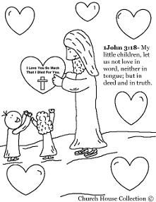 Valentine's Day Coloring Pages for Sunday School