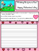 Valentine Activity Page Writing Scripture Fun