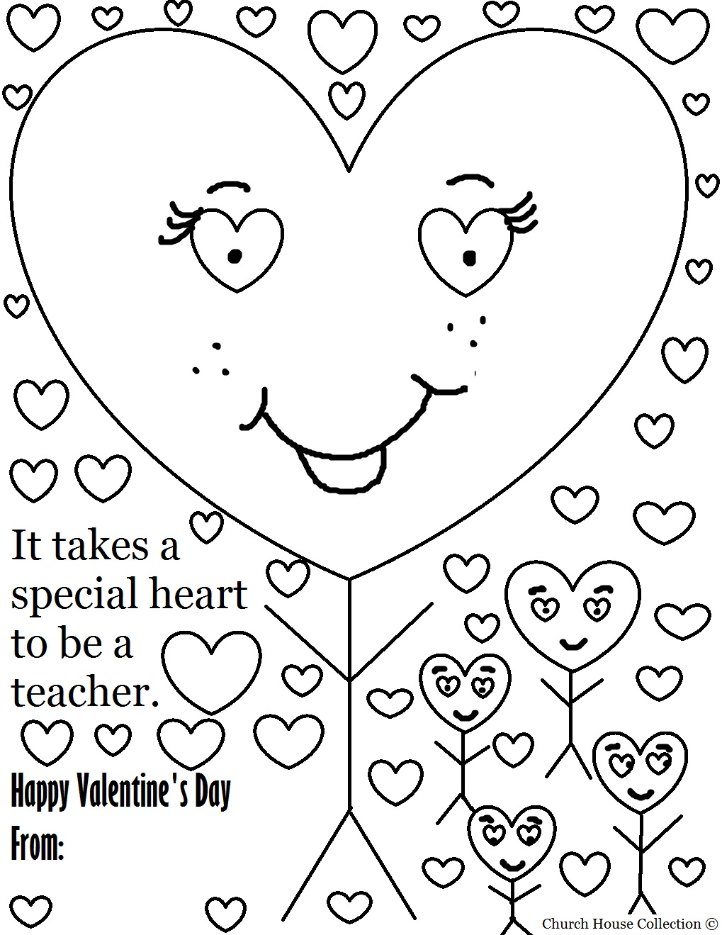 Church House Collection Blog: Valentine\'s Day Coloring Page for ...