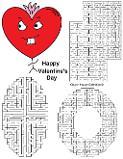Valentine's Day Mazes For Kids