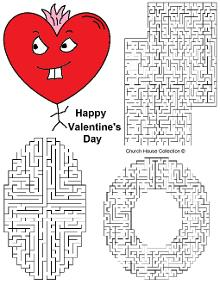 Valentine's Day Mazes for Kids. Free Printables