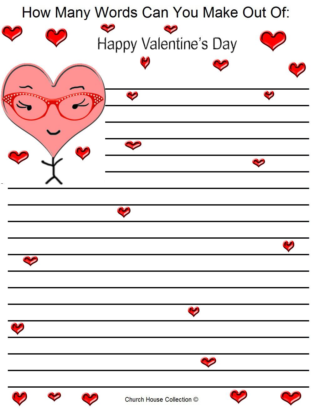 Word Valentine's day Card