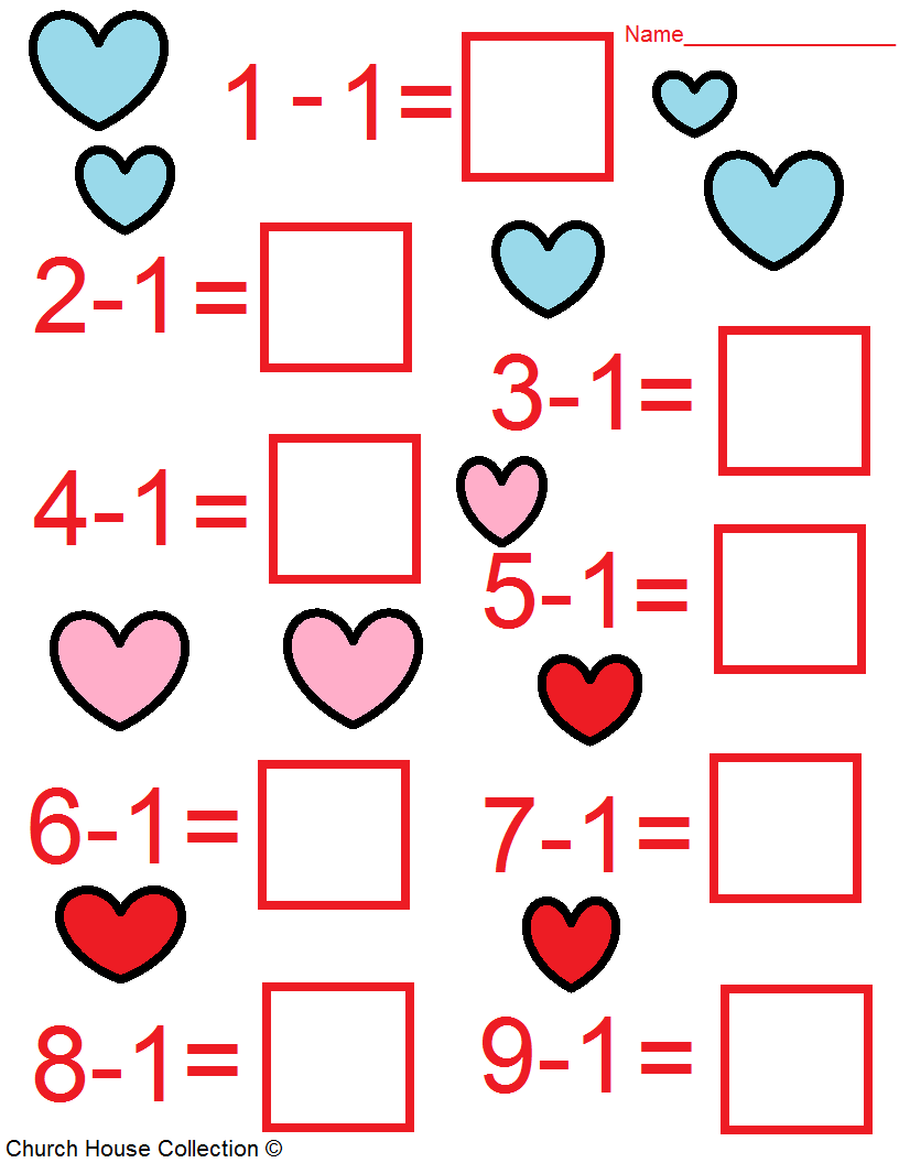 Valentines Day Math Worksheets For Kids – Printable Maths Worksheets for Kids