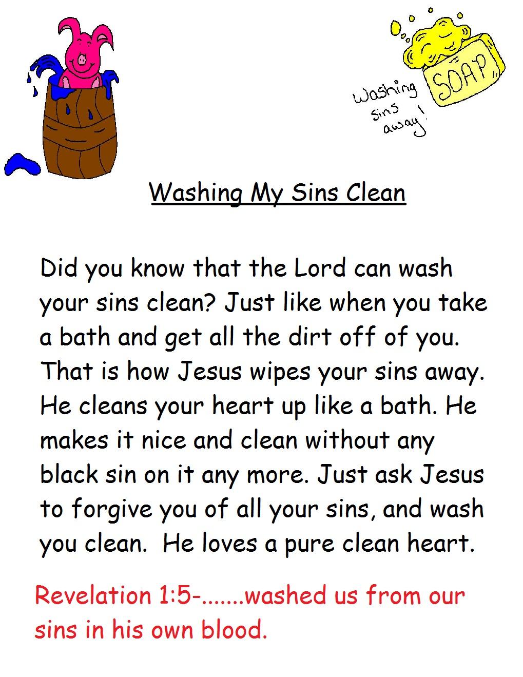 Washing Your Sins Away Sunday School