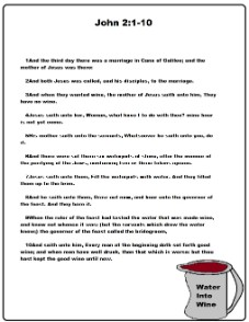 Water To Wine Printout For Lesson