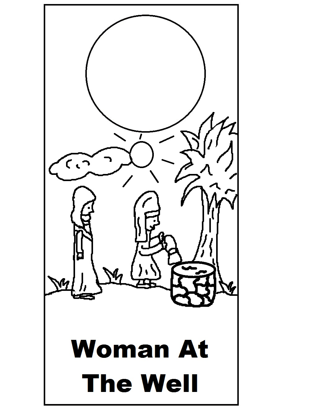 Free Samaritan Woman At Well Coloring Pages At The Well Coloring Pages