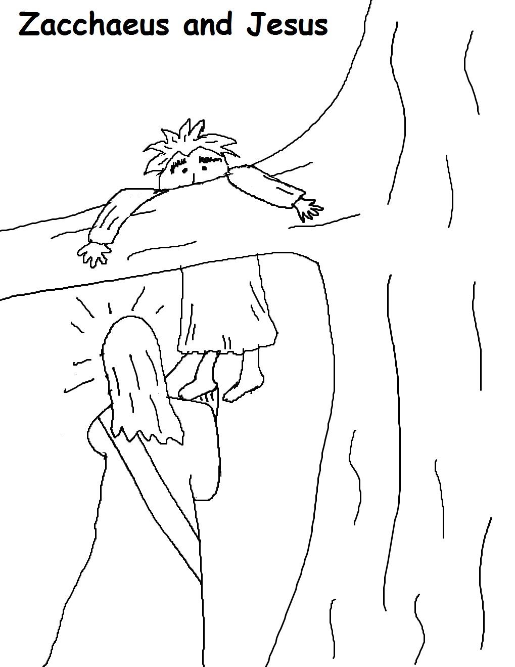 Zacchaeus sunday school lesson for Zacchaeus coloring pages for preschoolers