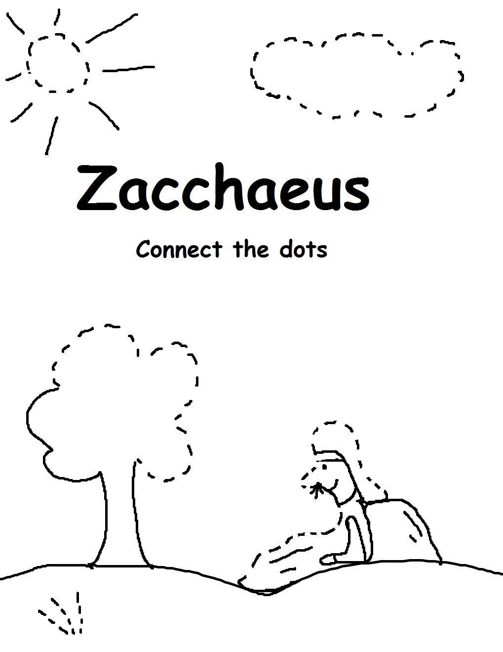 ZACCHEUS COLORING PAGES Free