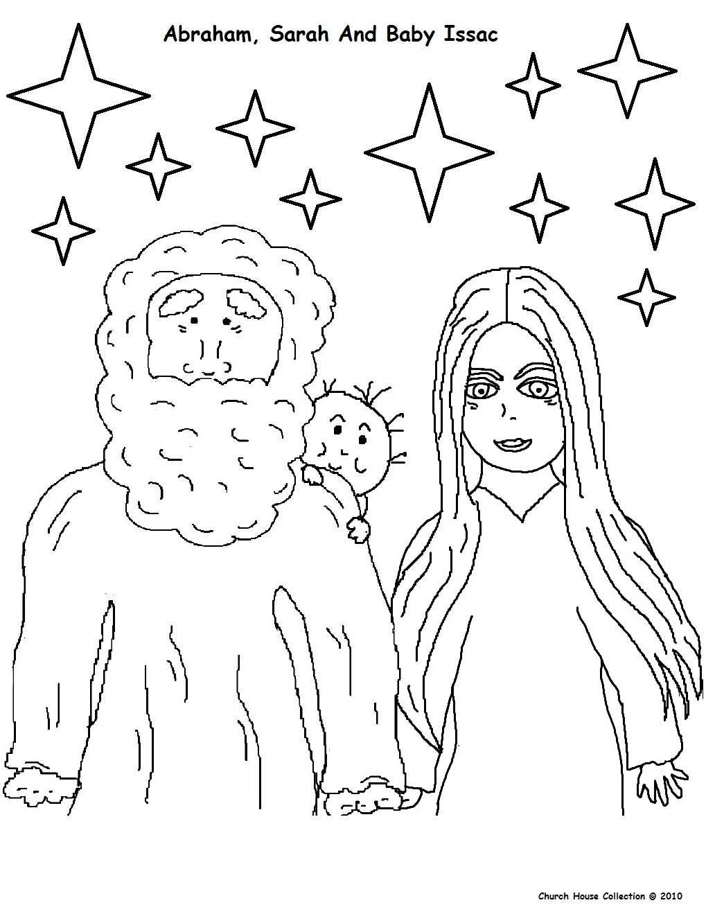 abraham sarah isaac coloring pages - photo#14