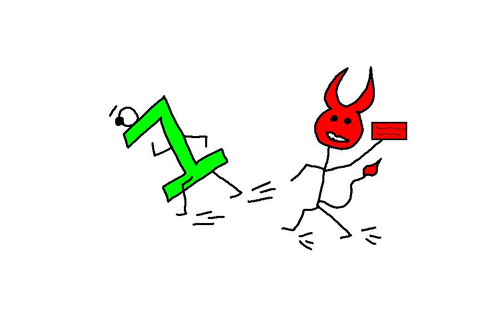 123 Devils After Me Clipart