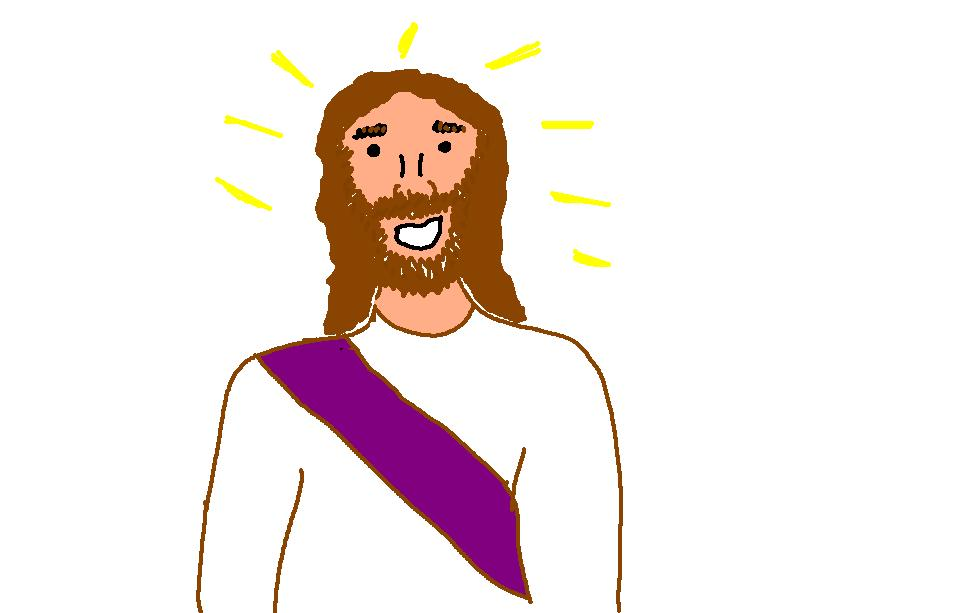Jesus walks on water clipart