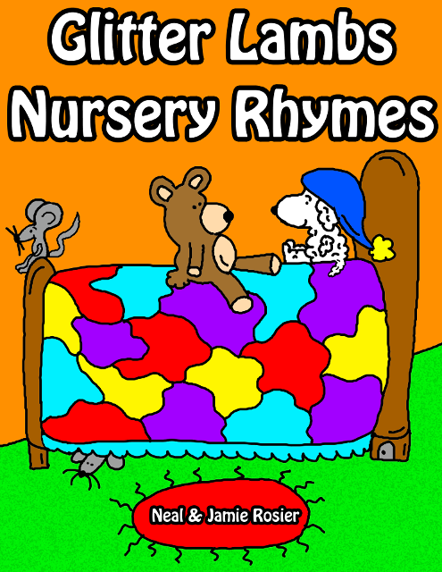 Glitter Lambs Nursery Rhymes by Neal and Jamie Rosier- Childrens Sheep Books