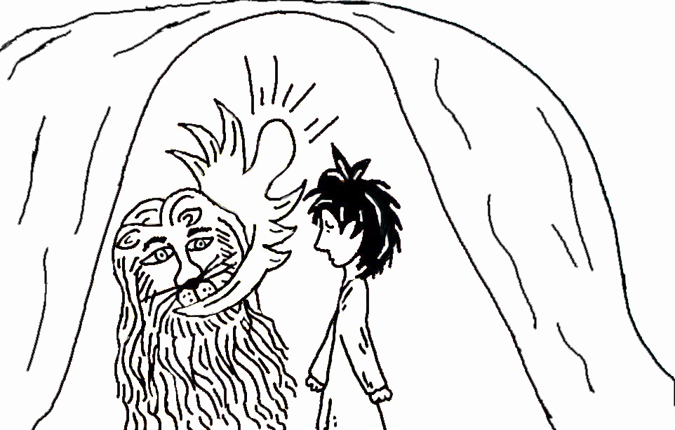 Daniel and the Lions, Online Coloring Page
