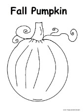 Fall Pumpkin Coloring Page