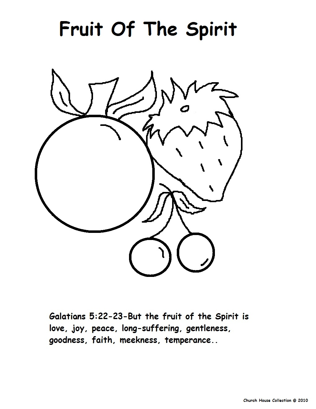 fruits of spirit coloring pages - photo#17