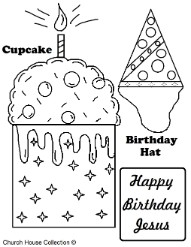 Happy Birthday Jesus Coloring Pages for Free