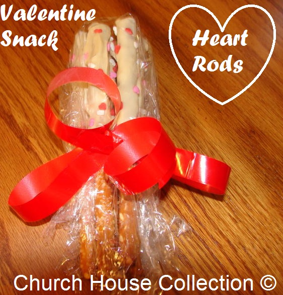 Heart Rods, Valentine's Day Pretzel Snack