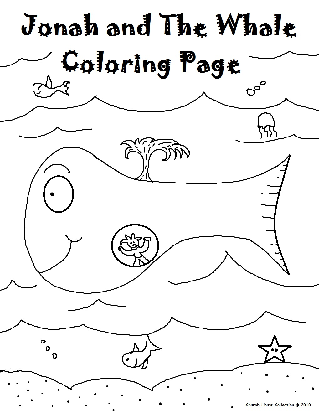 Coloring Sheet Jonah And The Whale : Jonah and The Whale Sunday School Lesson 2