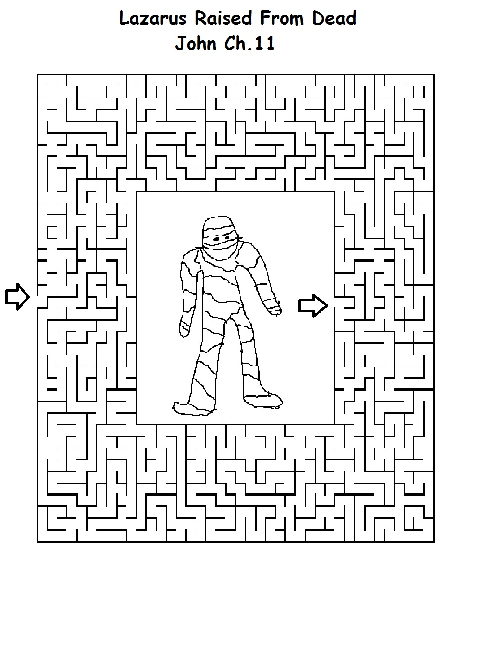 lazarus printable coloring pages - photo#35