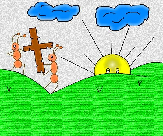 Take up your cross and follow me clipart